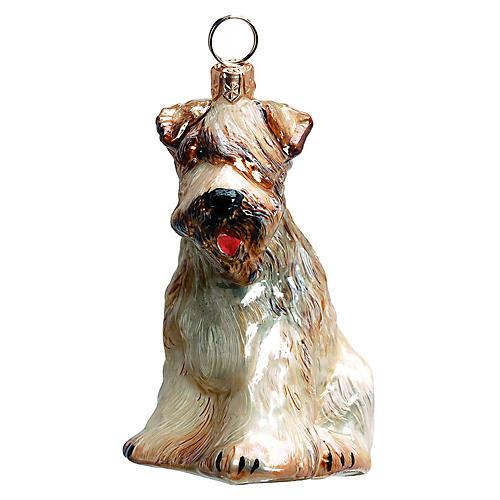 Wheaten Terrier Ornament, Tan/White