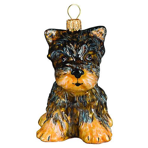 Barkby Yorkshire Terrier Ornament, Brown/Black