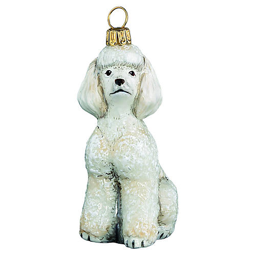 Toy Poodle Ornament, White