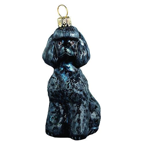 Toy Poodle Ornament, Black