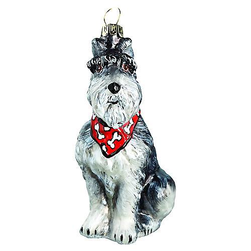 Schnauzer Ornament, Gray