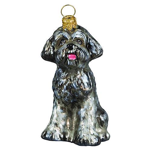 Schnoodle Ornament, Gray