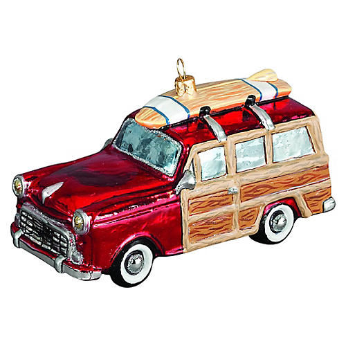 Woody Car Ornament, Red