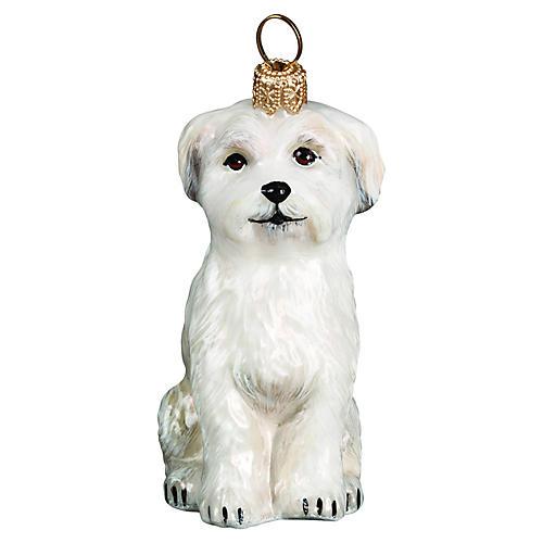 Maltese Ornament, White