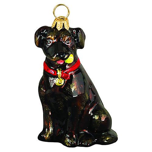 Labrador Ornament, Chocolate