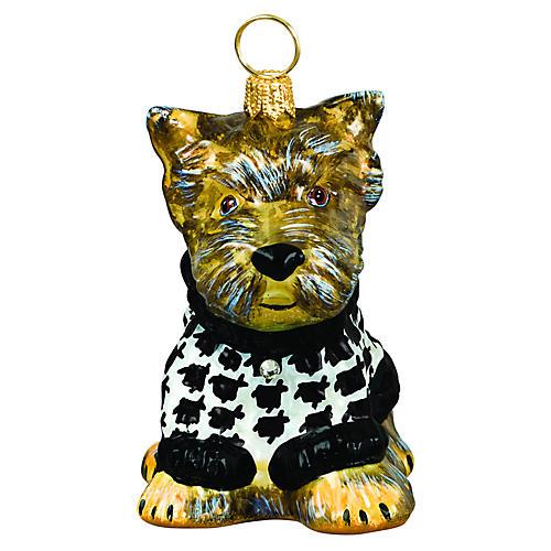 Yorkie Puppy Ornament, Brown