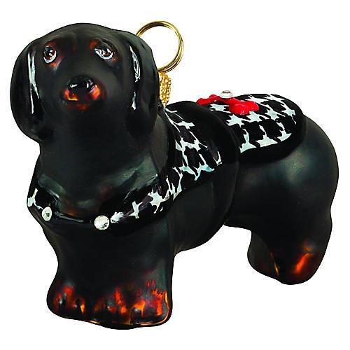 British Dachshund Ornament, Black