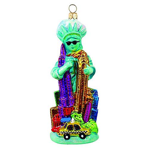 Miss Liberty Ornament, Green/Multi