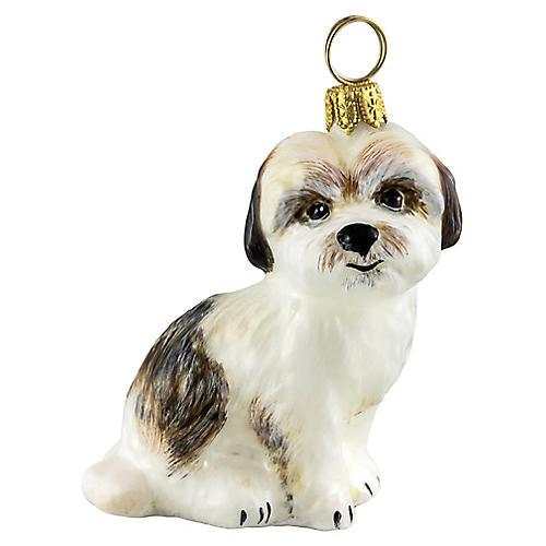 Cavachon Ornament, White/Brown