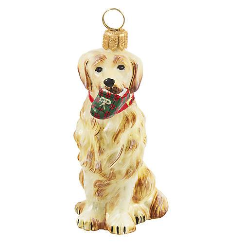Golden Retriever Ornament, Yellow
