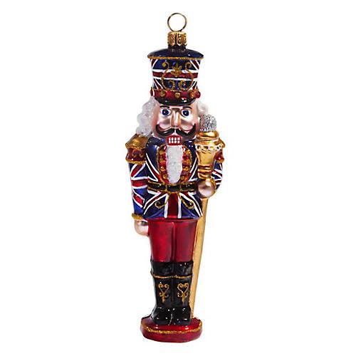 British Nutcracker Ornament, Red
