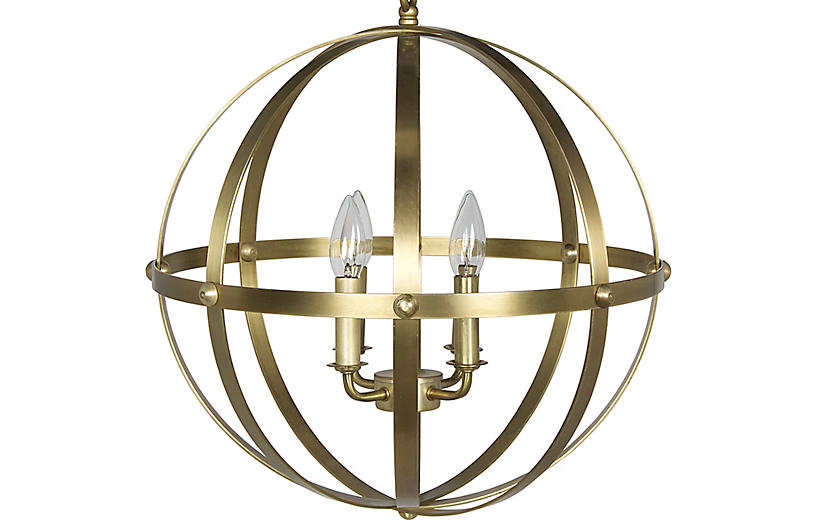 353 Pendant, Antiqued Brass
