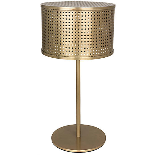Leila Table Lamp, Antiqued Brass