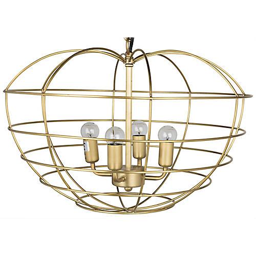 Mo Chandelier, Antiqued Brass