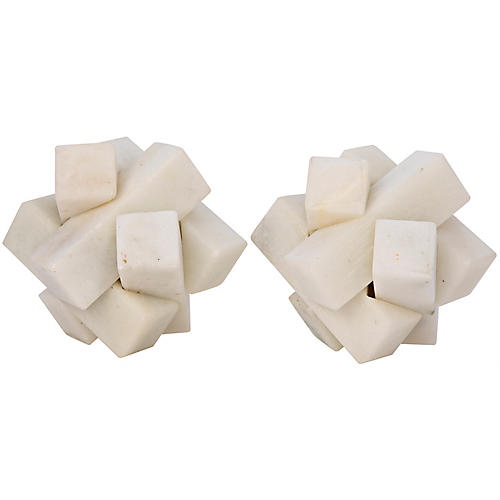 S/2 Cube Puzzle Objets, White Stone