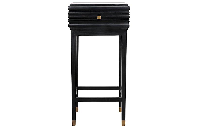 Kitame Side Table, Charcoal Black