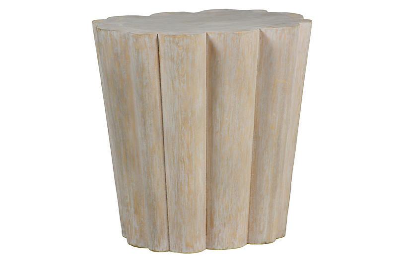 Bree Side Table, Whitewash