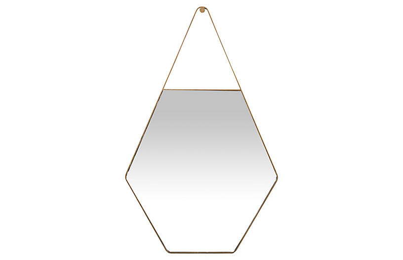 Lovell Wall Mirror, Brushed Gold