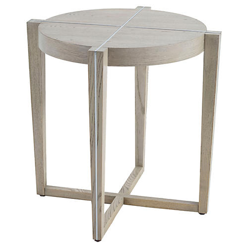 Eliza Side Table, Beige