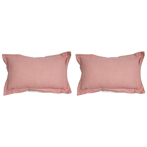 S/2 Premier Outdoor Lumbar Pillows, Petal