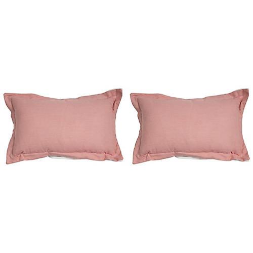 S/2 Premier Outdoor Lumbar Pillows, Petal