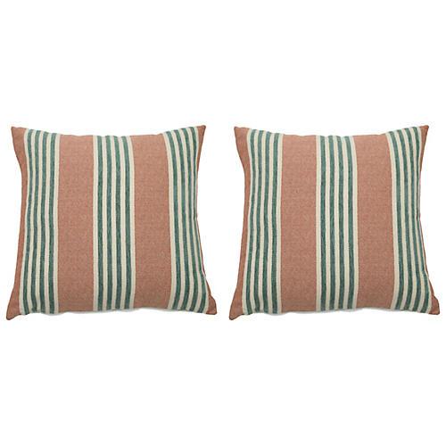 S/2 Bradford Outdoor Pillows, Cajun