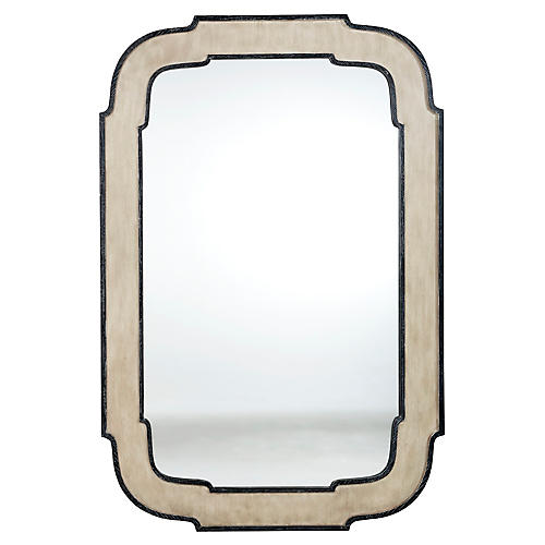 Joey Wall Mirror, Black/Beige