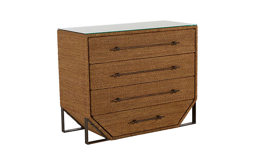 Chase Chest, Natural Seagrass/Bronze