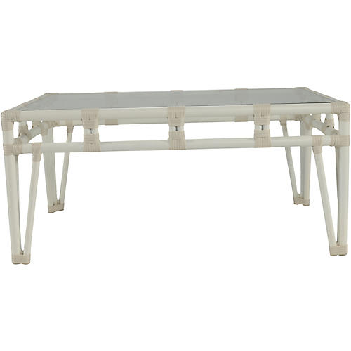 Nantucket Outdoor Coffee Table, White