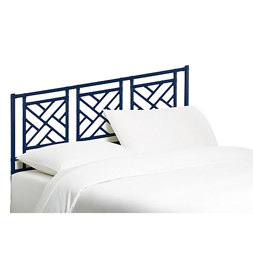 Chippendale Headboard, Navy