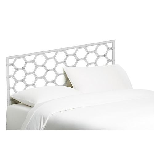 Honeycomb Headboard, White