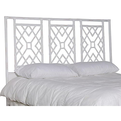 Camden Headboard, Distressed White