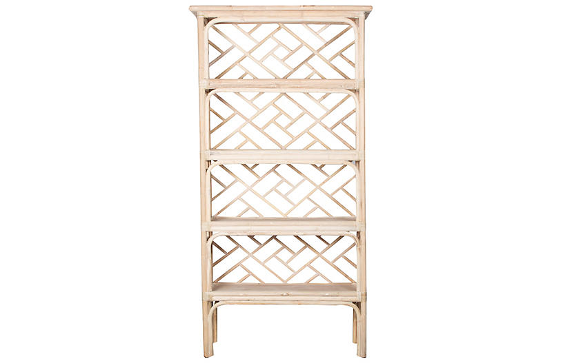 Chippendale Bookcase, Natural