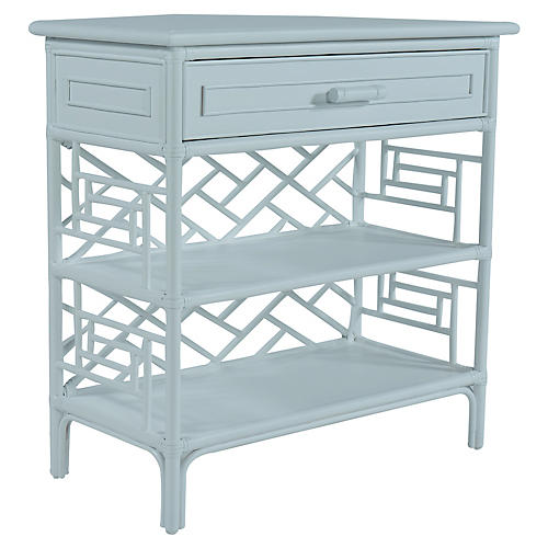Chippendale Side Table, Light Blue