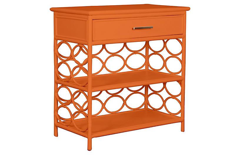Isla Side Table, Citrus Orange
