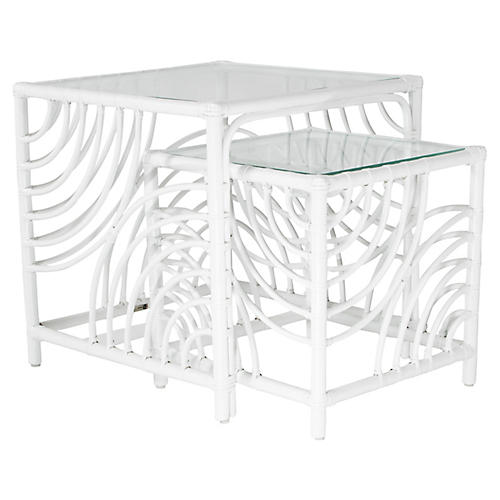 Swirl Nesting Tables, White