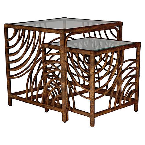 Swirl Nesting Tables, Tortoiseshell