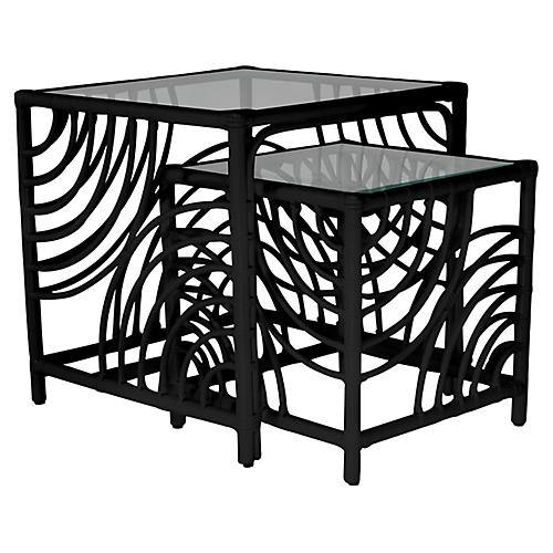 Swirl Nesting Tables, Black