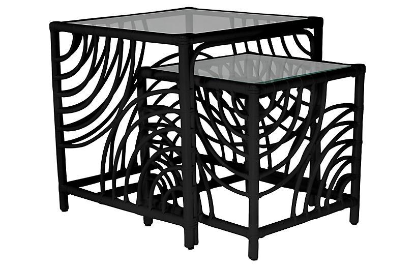 Swirl Nesting Tables, Black
