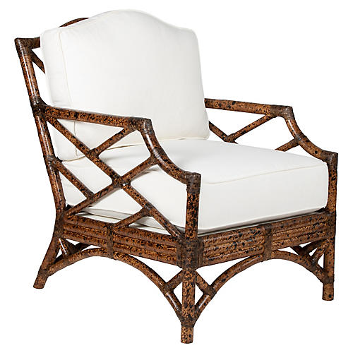 Chippendale Accent Chair, Tortoiseshell