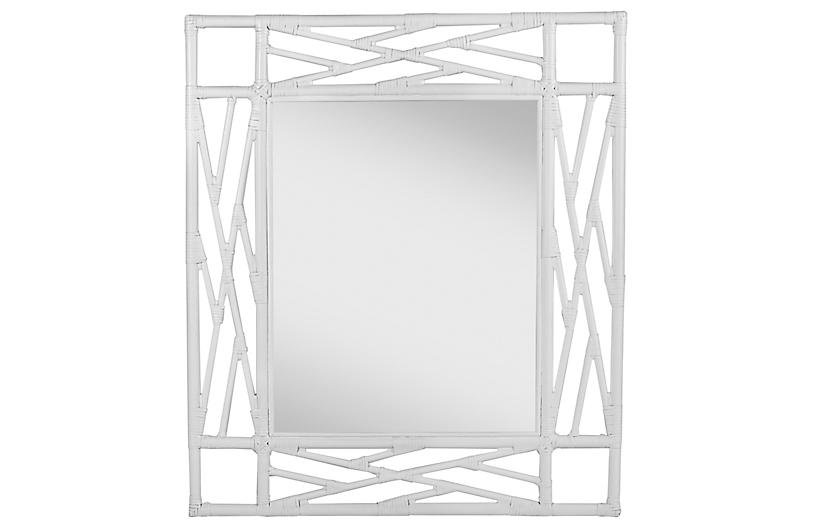Chippendale Mirror, White