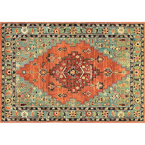 Medallion Maricruz Rug, Rust/Multi