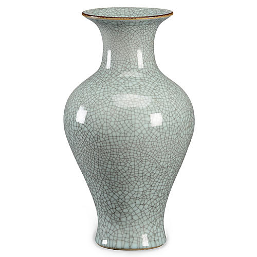 16' Roberson Vase, Celadon Crackle