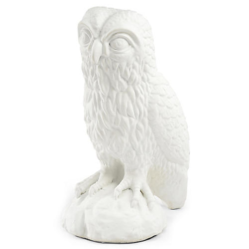 "20"" Owl Figure, White"