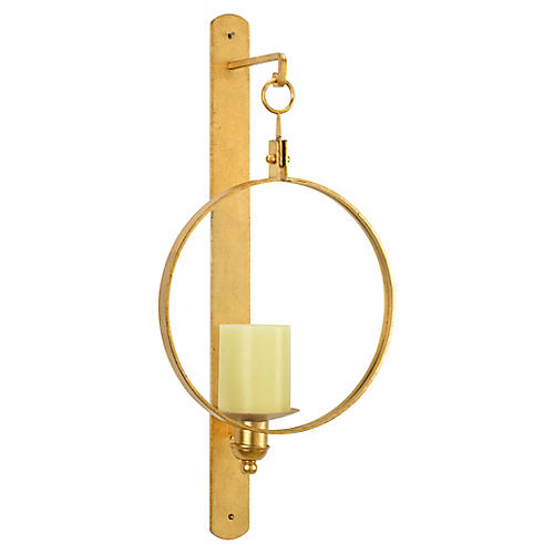 Leggit Sconce, Antiqued Gold Leaf