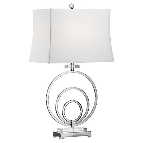 Regal Table Lamp, Polished Nickel