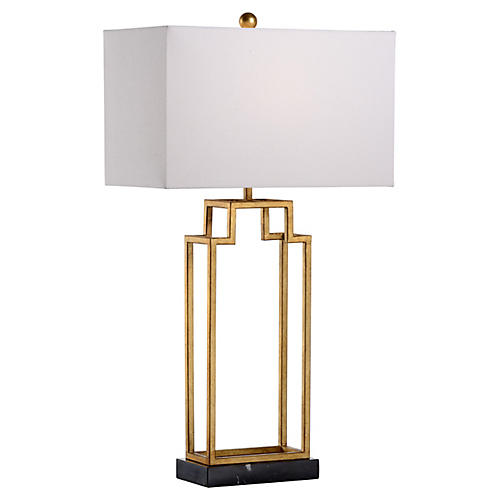 Hampton Table Lamp, Antiqued Gold