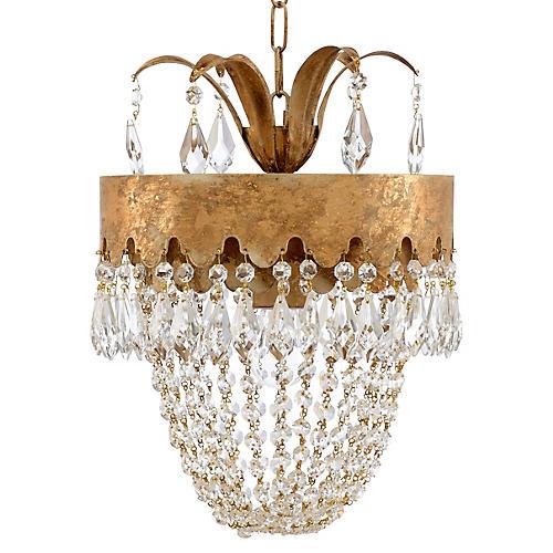 Barton Crystal Pendant, Venetian Gold