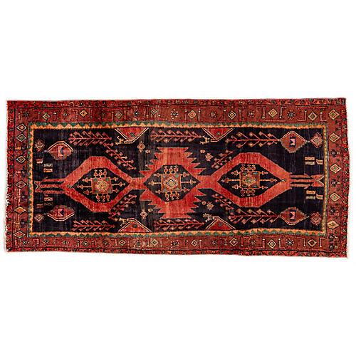 "4'9""x10'4"" Persian Hamadan Runner, Crimson/Copper"