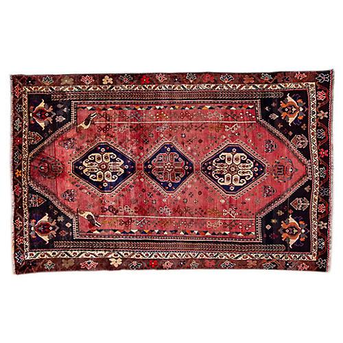 """5'9""""x9'1"""" Persian Shiraz Rug, Blush/Ivory"""